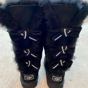 UGG Bailey Bow tall boots with Swarovski crystal